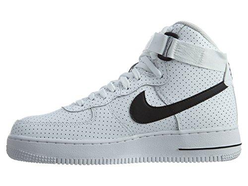 Nike Air Force 1 High White / Black-White (Big Kid) (7 M US Big Kid)