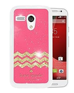 Unique Designed Kate Spade Cover Case For Motorola Moto G White Phone Case 134