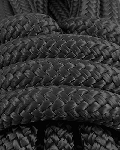 1/4 in X 50 ft Black Polyester Double Braided Rope