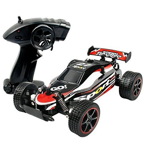 SZJJX RC Cars Rock Off-Road Vehicle Crawler Truck 2.4Ghz 2WD High Speed 1:20 Radio Remote Control Racing Cars Electric Fast Race Buggy Hobby Car SJ211 Red ()