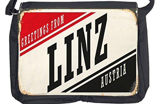Borsa Tracolla Voglia Viaggiare Città Linz Austria Stampato
