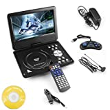DVD Player Portable 9.8 3D EVD with USB Playback TFT Swivel Flip Screen Game + MP3 + Card Reader Support + 3D Support YZone
