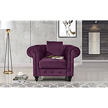 Amazon Com Classic Scroll Arm Large Velvet Living Room