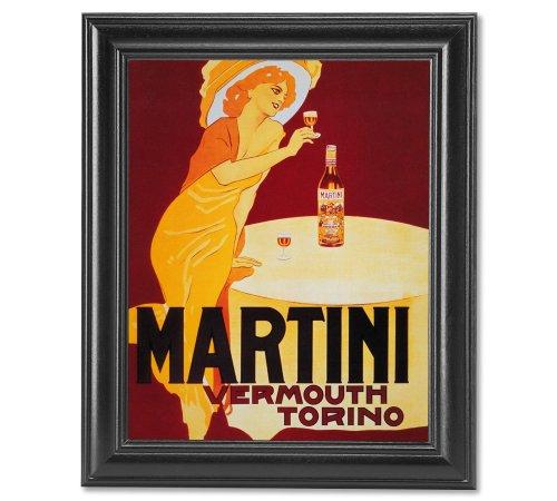 Liquor Art Poster (Martini Liquor Vintage Poster Ad Wall Picture Framed Art Print)
