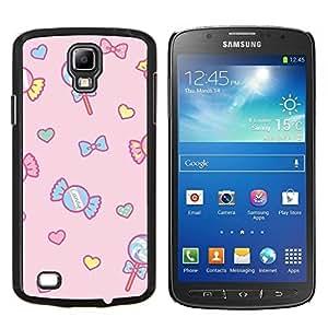 Dragon Case - FOR S4 Active I9295 (Do Not Fit S4) - candy lollipop heart valentines pink - Caja protectora de pl??stico duro de la cubierta Dise?¡Ào Slim Fit