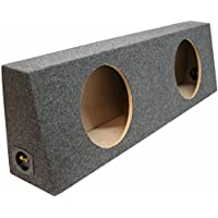 ASC Dual 12 Subwoofer Universal Regular Standard Cab Truck Sealed Sub Box Speaker Enclosure