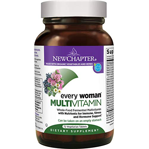 - New Chapter Women's Multivitamin, Every Woman, Fermented with Probiotics + Iron + Vitamin D3 + B Vitamins + Organic Non-GMO Ingredients - 72 ct