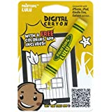 Best Stylus for Kids - Fun Crayon Stylus Pen. Yellow Kids Stylus for iPad, Tablets and Touch Screens