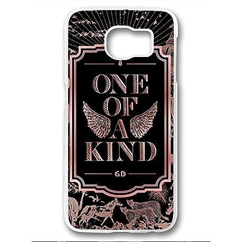Kpop G-Dragon BIGBANG One of a Kind Album for Samsung Galaxy S6 Edge White Rubber case (Samsung Galaxy S4 Cases Kpop)