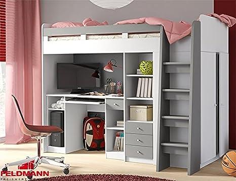 Unbekannt Hochbett Etagenbett Mit Kleiderschrank Und Schreibtisch