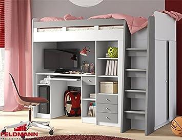 Etagenbett Mit Schrank Und Schreibtisch : Unbekannt hochbett etagenbett mit kleiderschrank und schreibtisch