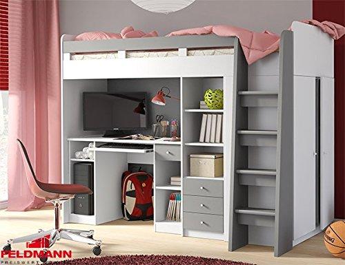 Hochbett Etagenbett Mit Schreibtisch : Unbekannt hochbett etagenbett mit kleiderschrank und schreibtisch