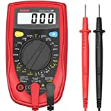 Etekcity MSR-R500  Digital Multimeter, Amp Volt Ohm Voltage Tester Meter with Diode and Continuity Test, Dual Fused for Anti-Burn, Red