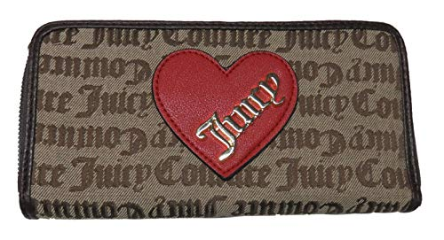 Juicy Couture Cross My Heart Zip Around Wallet Dark Chino (Juicy Couture Wallets For Women)