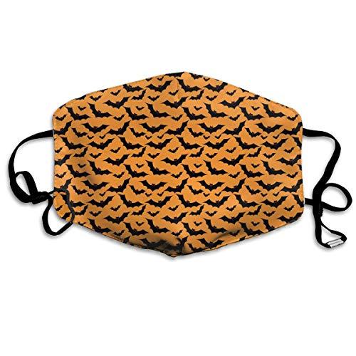 Unisex Halloween Bat Warm Fashion Washable Mouth Mask,Anti-dust Face Mask for Men and Women ()