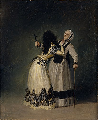 'Goya Y Lucientes Francisco De La Duquesa De Alba Y Su Duena 1795 ' Oil Painting, 24 X 29 Inch / 61 X 74 Cm ,printed On Polyster Canvas ,this Imitations Art DecorativePrints On Canvas Is Perfectly Suitalbe For Foyer Gallery Art And Home Decoration And Gifts -