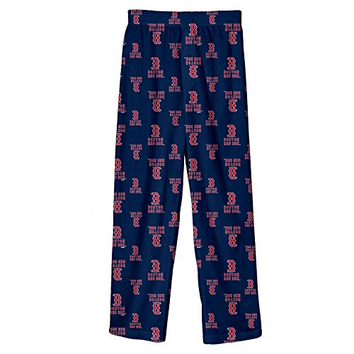 MLB Infant/Toddler Boys' Boston Red Sox Printed Pant, Navy, Medium (3T) (Apparel Red Toddler)