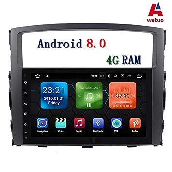 Wekuo 9 Pulgadas Pantalla Grande 8 Core 4G RAM Android 8.0 Coche DVD GPS Mitsubishi Pajero 2006 2007 2008 - 2014 2015 Radio de Coche: Amazon.es: Coche y ...