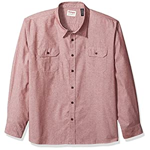 Wrangler Authentics Men's Big and Tall Authentics Big & Tall Long Sleeve Classic Woven Shirt