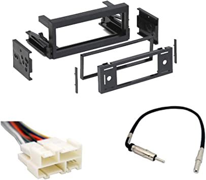amazon.com: compatible with chevy astro van 1996 1997 1998 1999 2000 2001  2002 2003 2004 2005 single din stereo harness radio install dash kit  package: car electronics  amazon.com