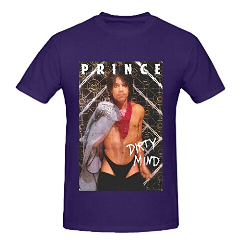 Prince The Beautiful Experience Funk Tour Men Round Neck Custom T Shirt Purple