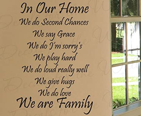Amazon.com: In Our Home We Do Second Chances - Love Home Family ...