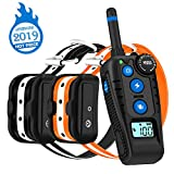 WILLBEST Dog Training Collar with Rotary Dial Remote, Waterproof and Rechargeable Shock Reflective Collar with Beep, Vibration and Shock Modes for Dogs