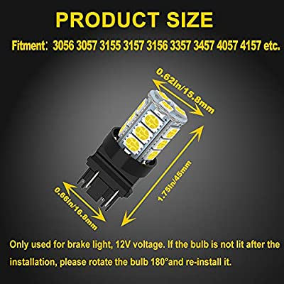 GIVEDOUA 3157 LED Bulb Super Bright 18-SMD 5050 Chips 3056 3156 3057 4157 LED Bulb Replacement for Brake Lights,Pack of 10pcs: Automotive