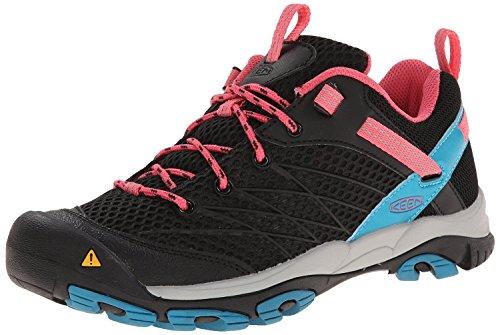 Keen Women's Marshall Hiking Shoe, Black/Honeysuckle, 5 M US