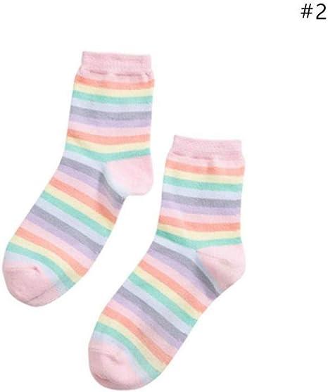 SIKESONG Moda Calcetines de algodón Dulce Helado Calcetines de ...
