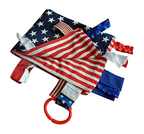 Red, White and Blue Military Security Comfort Blanket Lovey (Military Keepsake)