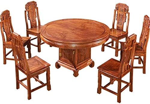 Nobranded Table /à Manger en Palissandre h/érisson Table Ronde en Palissandre Nouveau Restaurant Chinois Table /à Manger Meubles en Acajou Combinaison de Table et Chaise en Bois Massif