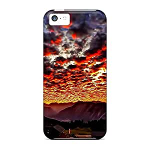 meilz aiaiNew Fashionable ElenaHarper CUN28370Hiwt Covers Cases Specially Made For Iphone 5c(burning Cloud Of Lava)meilz aiai