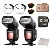 Godox TTL TT685C Camera Flash High Speed 1/8000s GN60 for Canon DSLR Cameras EOS 400D Digital 450D 500D 550D 600D 650D 1000D 1100D 30D 40D 50D 60D 5D Mark II 5D Mark III 6D 7D (2TT685C+X1T-C)