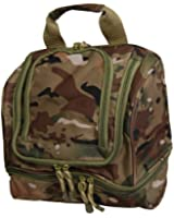 Deluxe Camouflage Multi-layered Overnight Travel Toiletry Bag Organizer with Build-in Hook