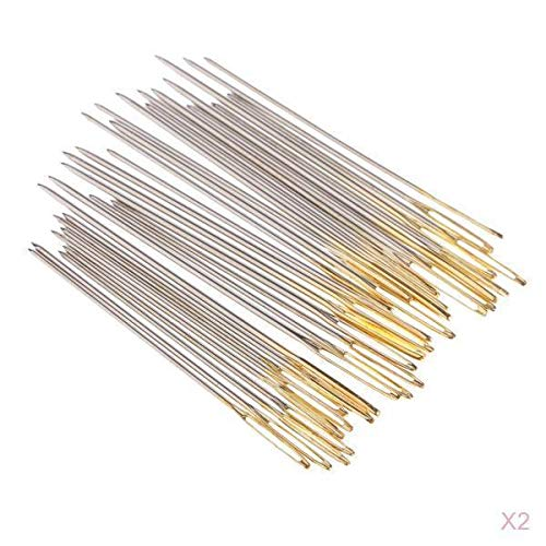 60Pcs Hand Sewing Needles Easy Threading Embroidery Cross Stitching Button - Clover Ends Cross