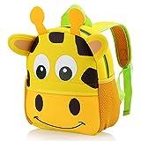 Hotrose Children Bag Kindergarten Cartoon Backpack Animal Pattern Rucksack for Toddler Boys and Girls (giraffe), Small
