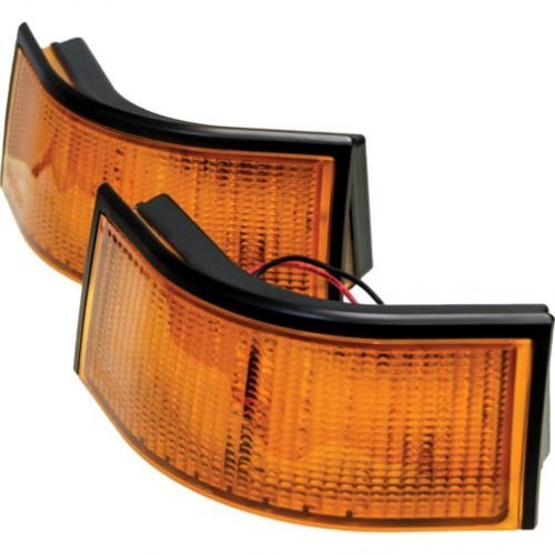 LED Work Light Kit - 18W Curved Rectangular Amber Lens LH & RH Compatible with John Deere 7410 8310 7720 7400 8100 7510 8210 8400 8120 8300 7210 7610 9400 8410 7810 7600 7200 7700 8200 7710 7800 8110