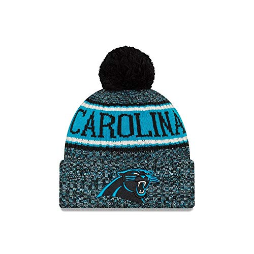 New Era 2018 NFL Carolina Panther Reverse Sport Stocking Knit Hat Winter Beanie -