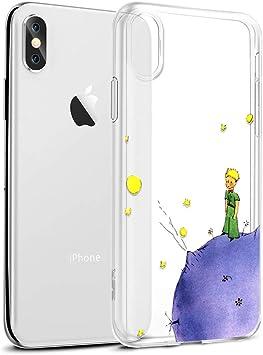 Yoedge Funda iPhone XS MAX Ultra Slim Cárcasa Silicona Transparente con Dibujos Animados Diseño Patrón [El Principito] Resistente Bumper Case Cover para iPhone XS MAX Smartphone (Púrpura): Amazon.es: Electrónica