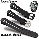 TODAYTOP Wristband,Luxury Rubber Replacement Watch Band Strap SS0S4723000 for SUUNTO Observer SR X6HRM -Black, One Size