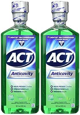 Alcohol Free Anticavity Fluoride Rinse, Mint - 18 oz - 2 pk