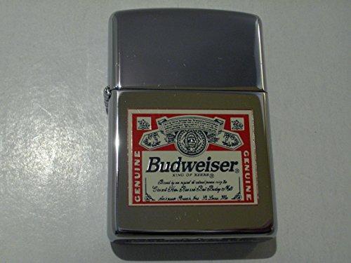 Zippo Budweiser Anheuser Busch Bud Label Lighter