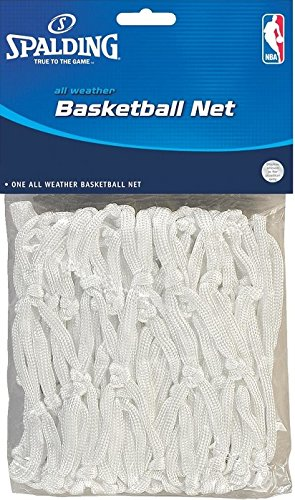 Spalding 8284SR White All Weather NBA Basketball Nets - Quantity 24 by Spalding