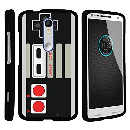 MINITURTLE Case Compatible w/ [Motorola Droid Turbo 2 Case, Kinzie Case, Moto X Force Case][Snap Shell] Hard Plastic Slim Fitted Snap on case w/ Unique Designs Game Controller