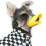 WORDERFUL Anti Bite Duck Muzzles Dog Mouth Cover Duck Mouth Shape Anti-called Muzzle Masks Pet Mouth Bite-proof Mask (M)