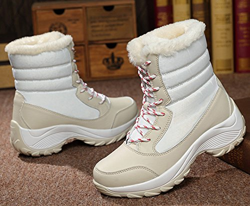 JiYe Boots Short Shoes Snow Women's Apricot white z1q4z0wr