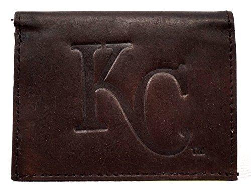 Royals Mlb Leather - MLB Kansas City Royals Tri-Fold Leather Wallet, Brown