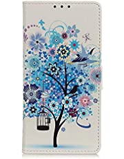 TYWZ Wallet Case for Samsung Galaxy A31,Folio Flip PU Leather Colorful Painting Case Cover with Card Holder Slot Pockets Magnetic Closure-Blue Tree