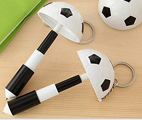 Fishroll - Llavero retráctil con forma de balón de fútbol (negro + ...